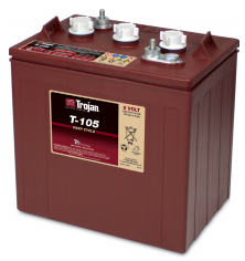 Trojan T105 - 225Ah @ C20 6v - Deep Cycle Battery